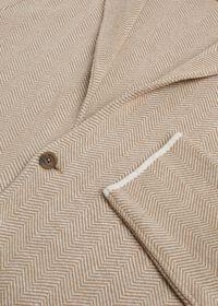 Linen Blend Chevron Sweater Jacket, thumbnail 2