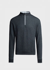 Pima Cotton Quarter Zip Pullover, thumbnail 1
