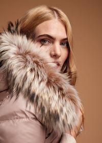 Puffer Coat with Fur Trim, thumbnail 2