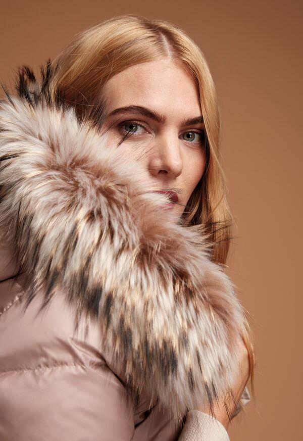Puffer Coat with Fur Trim, image 2