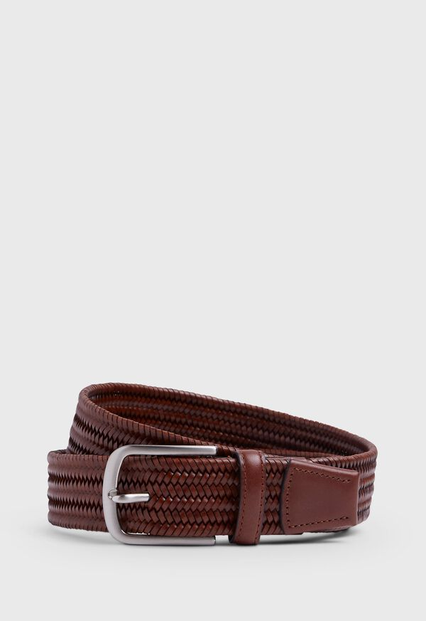 35MM Stretch Leather Woven Belt