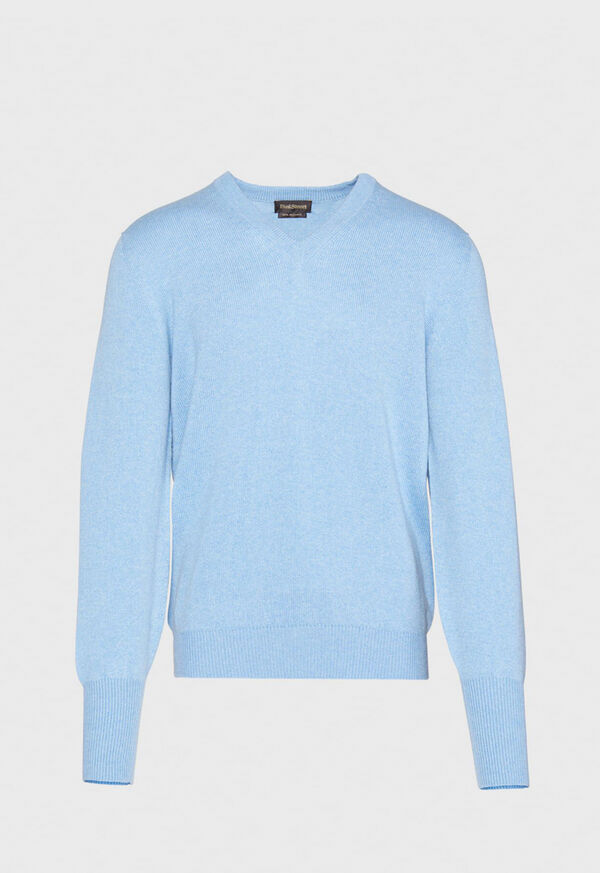 Classic Cashmere Double Ply V-Neck Sweater