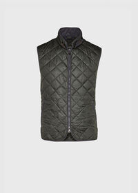 Nylon Quilted Vest with Piping, thumbnail 1