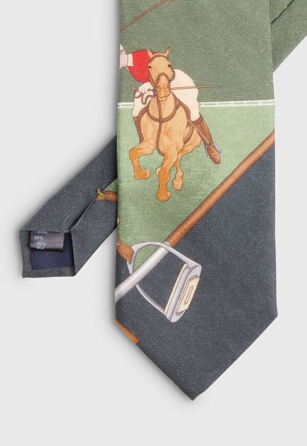 Green Polo Scarf Tie, image 2