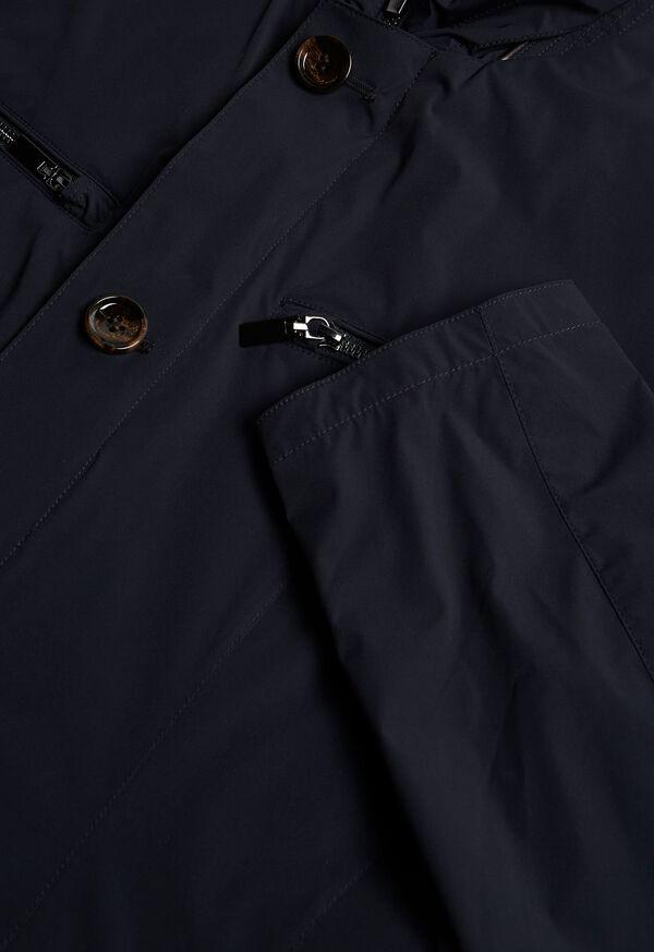 Navy Nylon Blazer Jacket, image 2