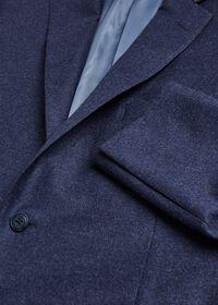 Mid Blue Solid Flannel Paul Fit Suit, thumbnail 2