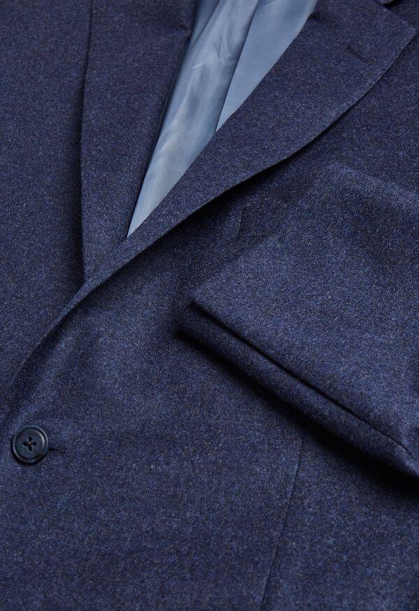 Mid Blue Solid Flannel Paul Fit Suit, image 2