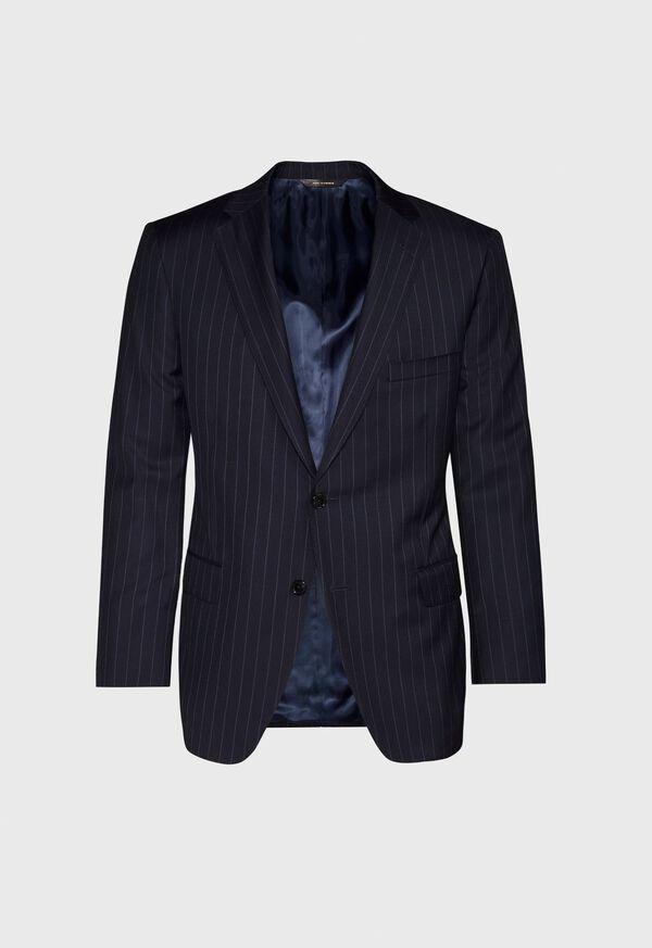 Navy Stripe Super 110s Wool Suit, image 3