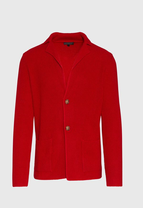 Cashmere Shawl Collar Cardigan, image 1