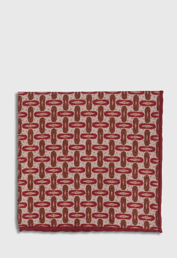 Vintage Deco Print Pocket Square, image 2