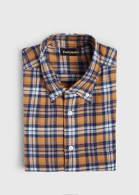 Plaid Brushed Flannel Sport Shirt, thumbnail 1