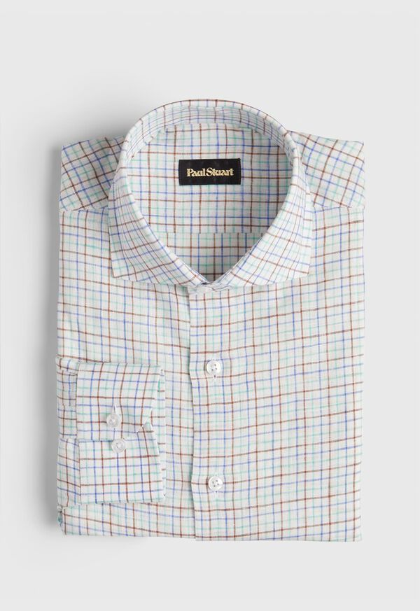 Linen Two Color Tattersall Sport Shirt, image 1