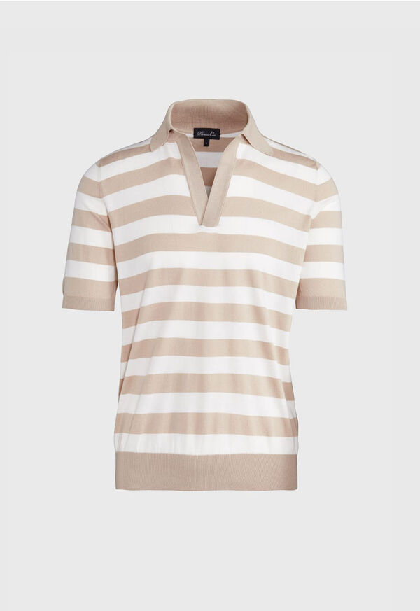 Two Tone Stripe Polo, image 1