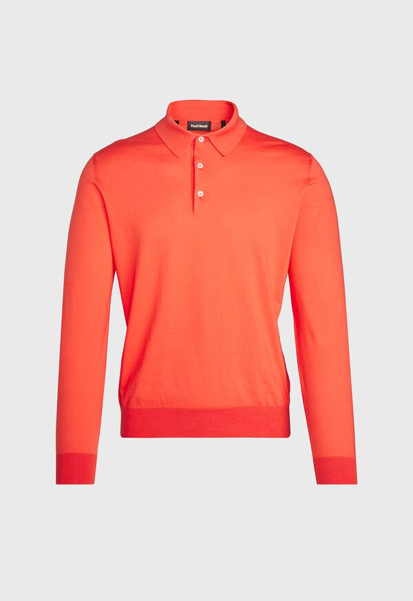Long Sleeve Cotton Polo, image 2