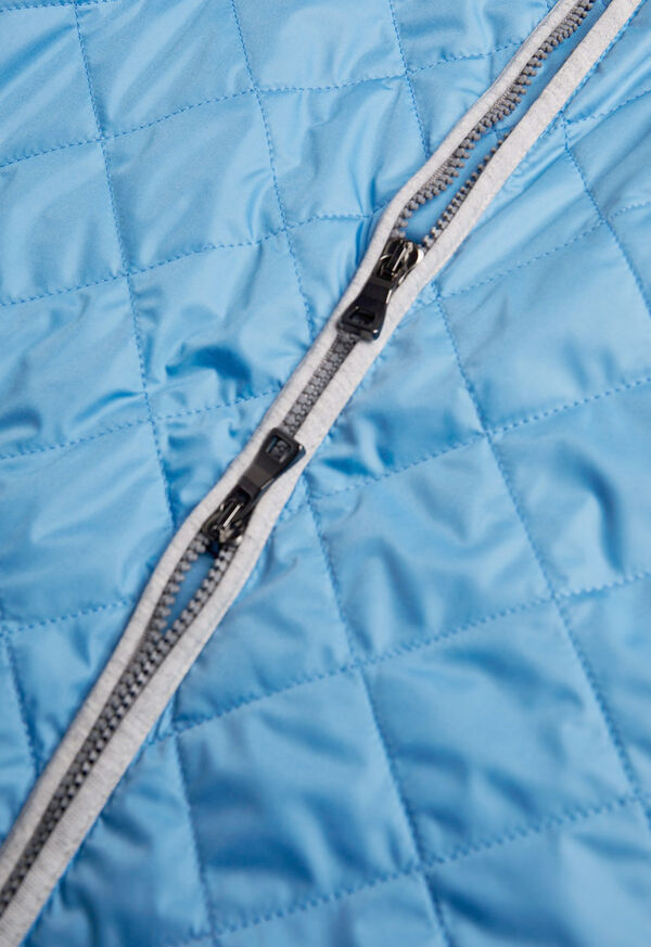 Quilted Nylon Vest with Wool Trim, image 2