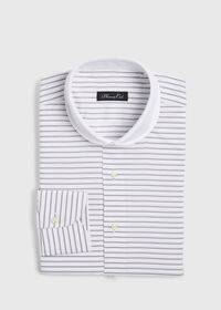 Horizontal Stripe Dress Shirt, thumbnail 1