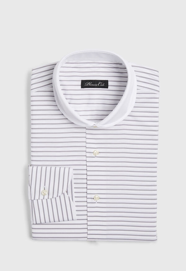 Horizontal Stripe Dress Shirt