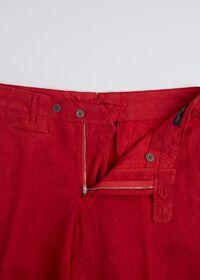 Linen Plain Front Pant, thumbnail 2