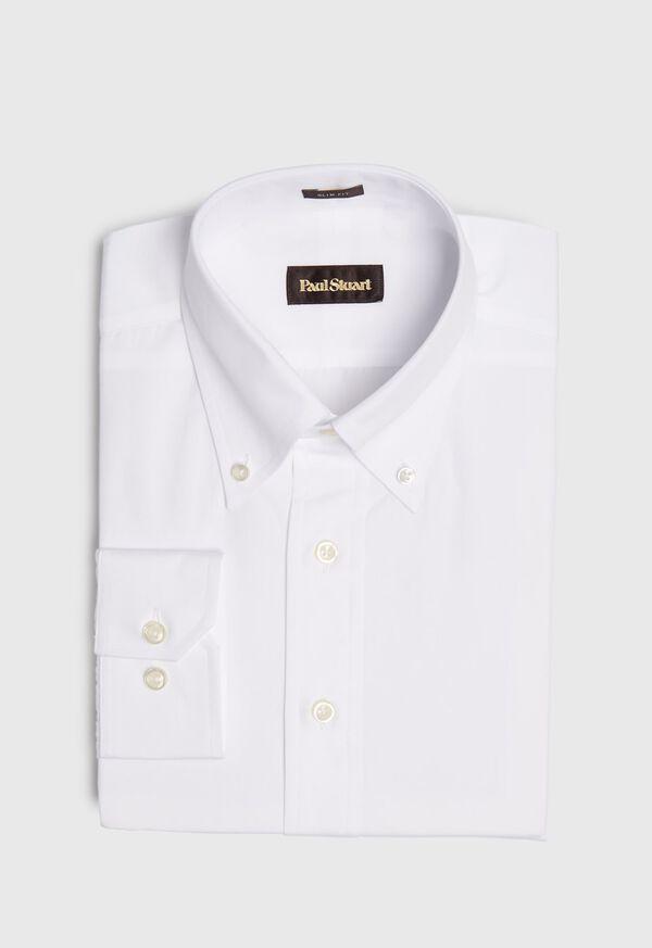 Slim Broadcloth Dress Shirt, image 1