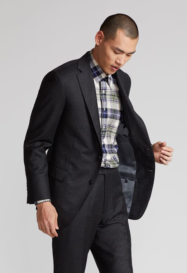 Paul Fit Wool and Cashmere Flannel Suit, image 8