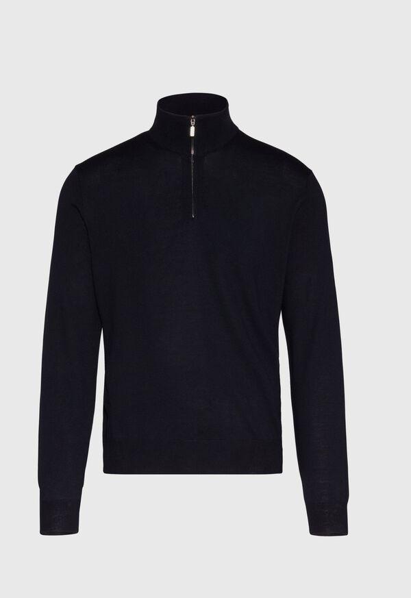 Wool 1/4 Zip Sweater, image 1