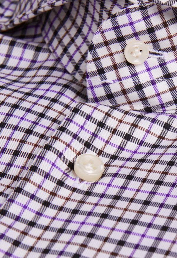 Extreme Cutaway Collar Tattersall Shirt, image 2