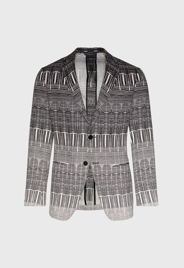 Printed Abstract Graded Dinner Jacket