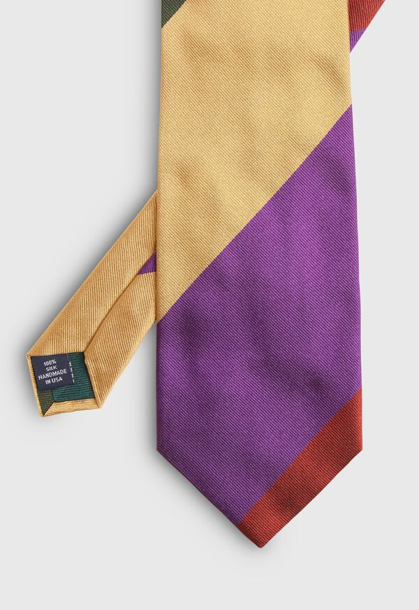 Wide Stripe Silk Tie, image 2