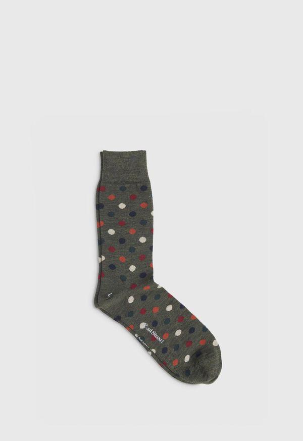 Wool Blend Multi Color Dot Sock, image 1