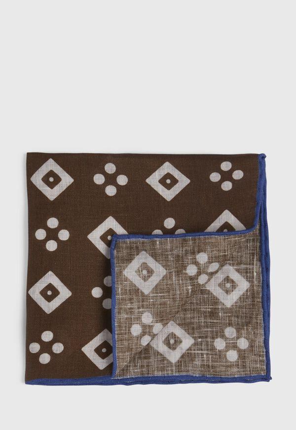 Linen Medallion Pocket Square, image 1