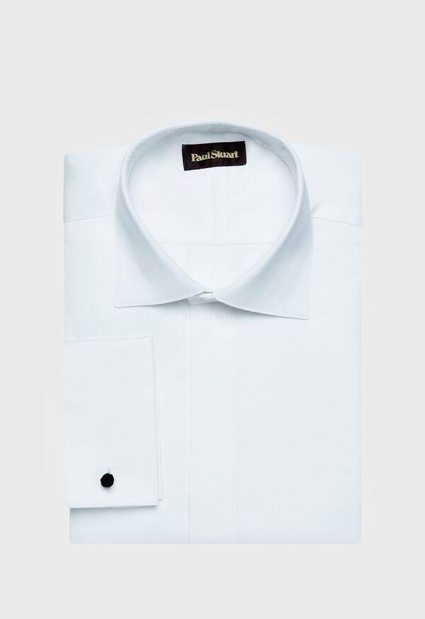 Pique Spread Collar Formal Shirt, image 1