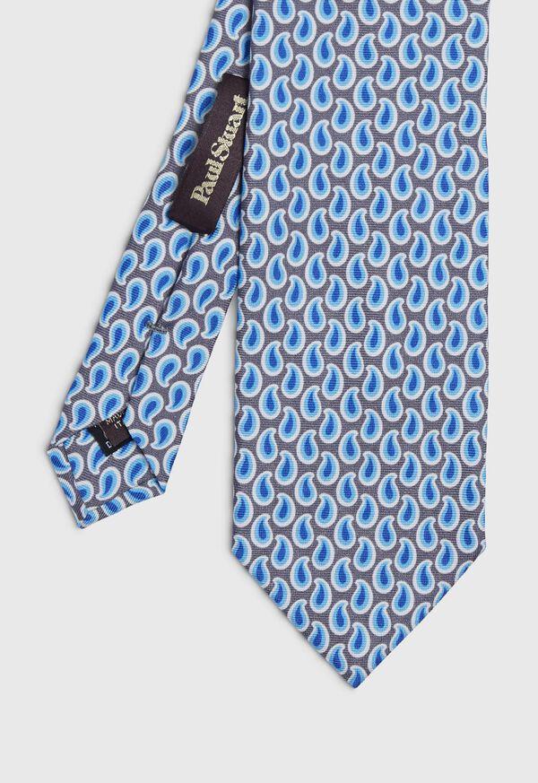 Allover Pine Silk Tie, image 1