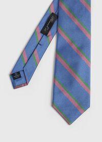 Silk Regimental Stripe Skinny Tie, thumbnail 1