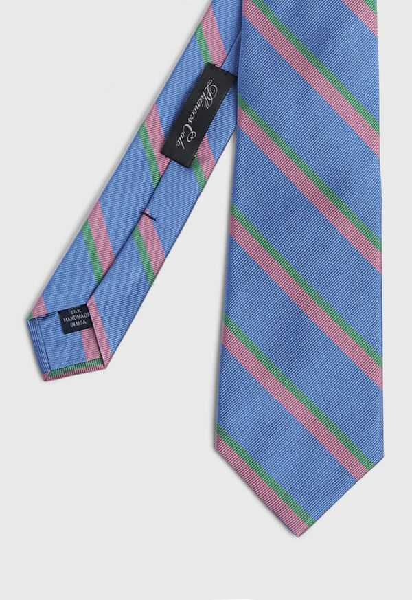 Silk Regimental Stripe Skinny Tie, image 1