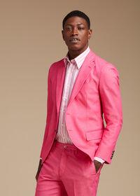 Pink Cotton Blend Denim Jacket, thumbnail 2