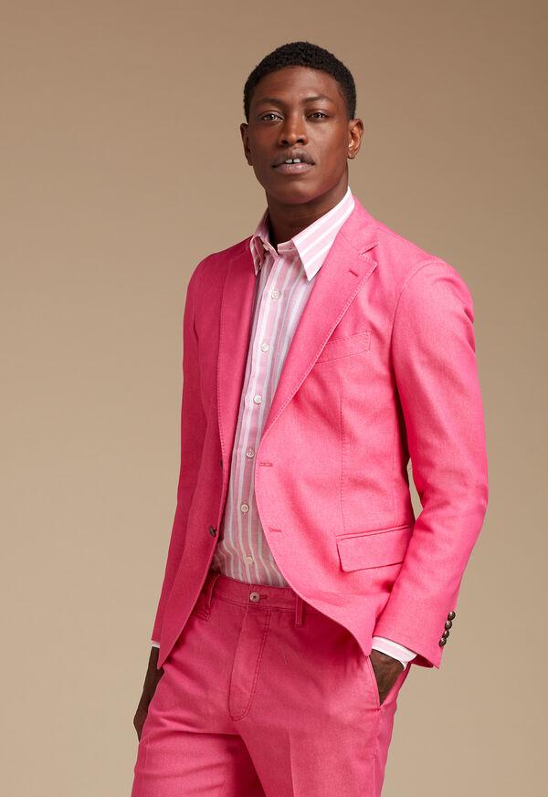 Pink Cotton Blend Denim Jacket, image 2