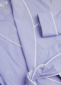 Cotton Micro-Houndstooth Robe, thumbnail 2