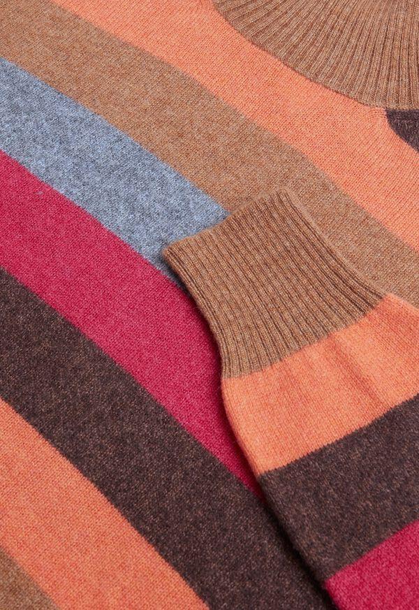Cashmere Multi-Stripe Turtleneck Sweater, image 2