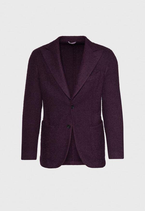 Solid Crimson Fuzzy Soft Jacket, image 1
