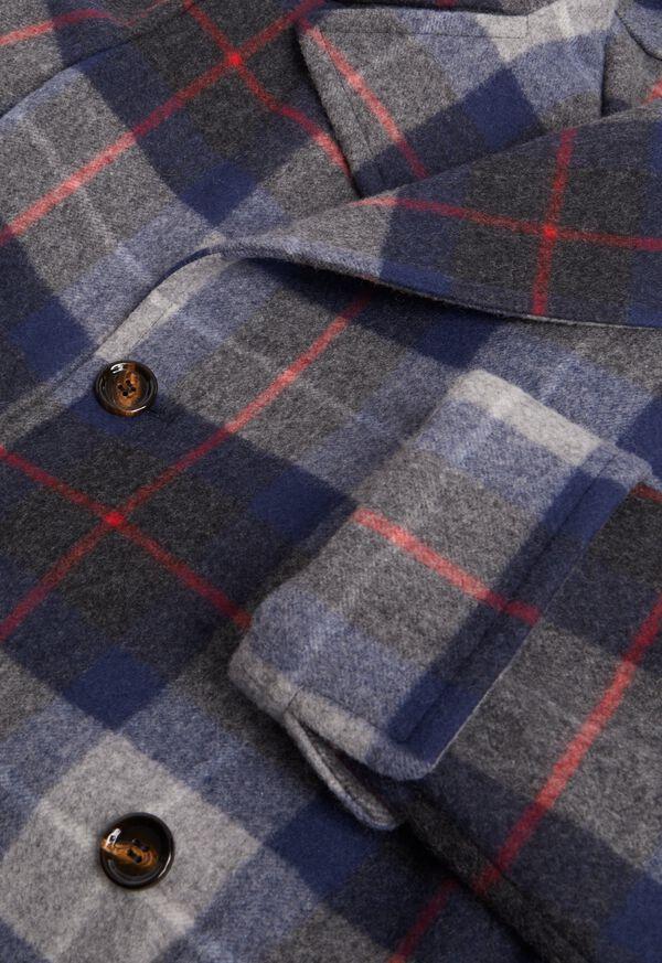 Tartan Plaid Wool Overcoat, image 2