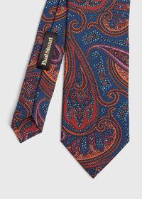 Bold Color Printed Paisley Tie, thumbnail 1