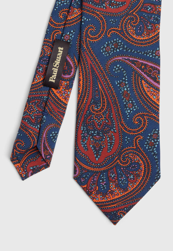 Bold Color Printed Paisley Tie, image 1