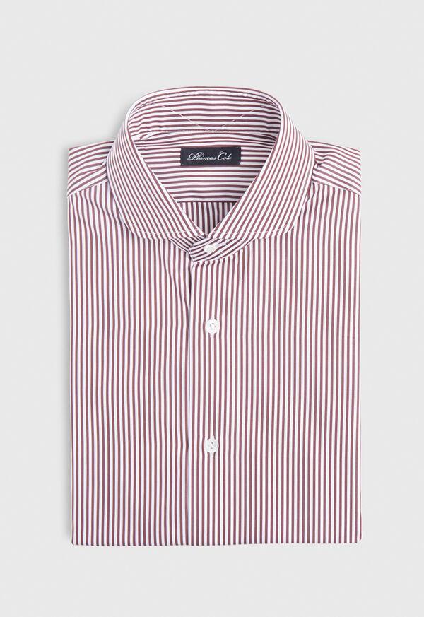 Stripe Round Collar Dress Shirt, image 1
