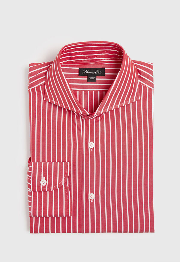 Oxford Wide Stripe Dress Shirt, image 1