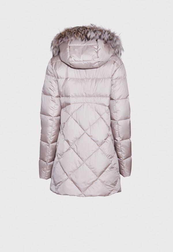 Puffer Coat with Fur Trim, image 3