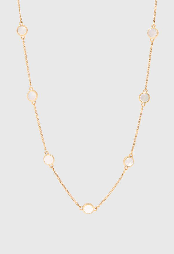 Julie Vos Valencia Delicate Station Necklace with Mother of Pearl Accents, image 1
