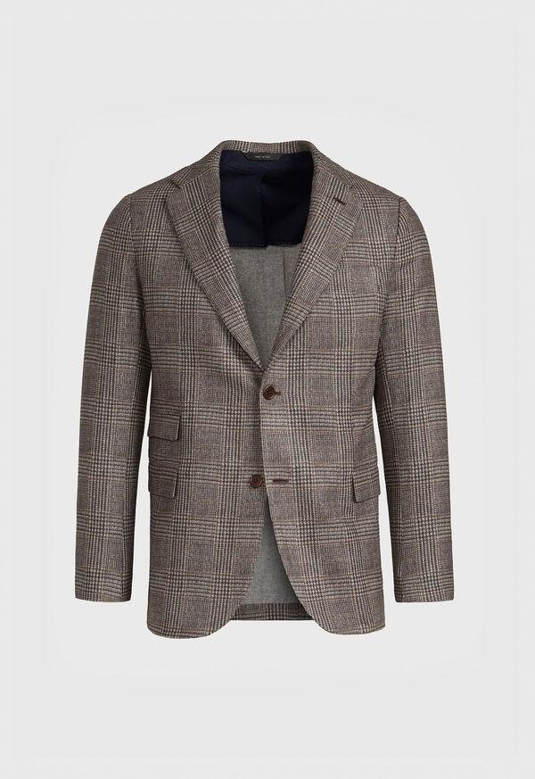 Plaid Print Wool Blazer, image 1