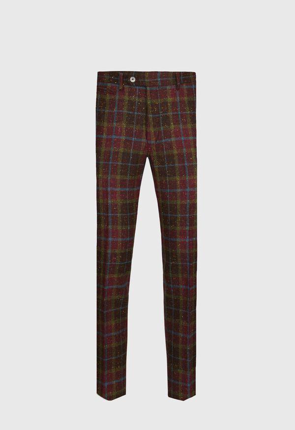 Wool Tweed Plaid Trouser