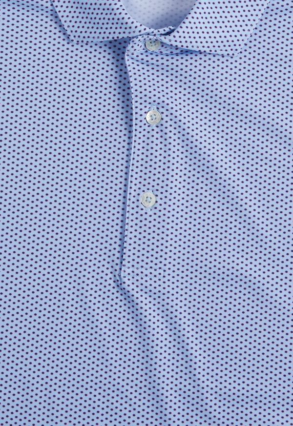 Neat Printed Performance Polo, image 2
