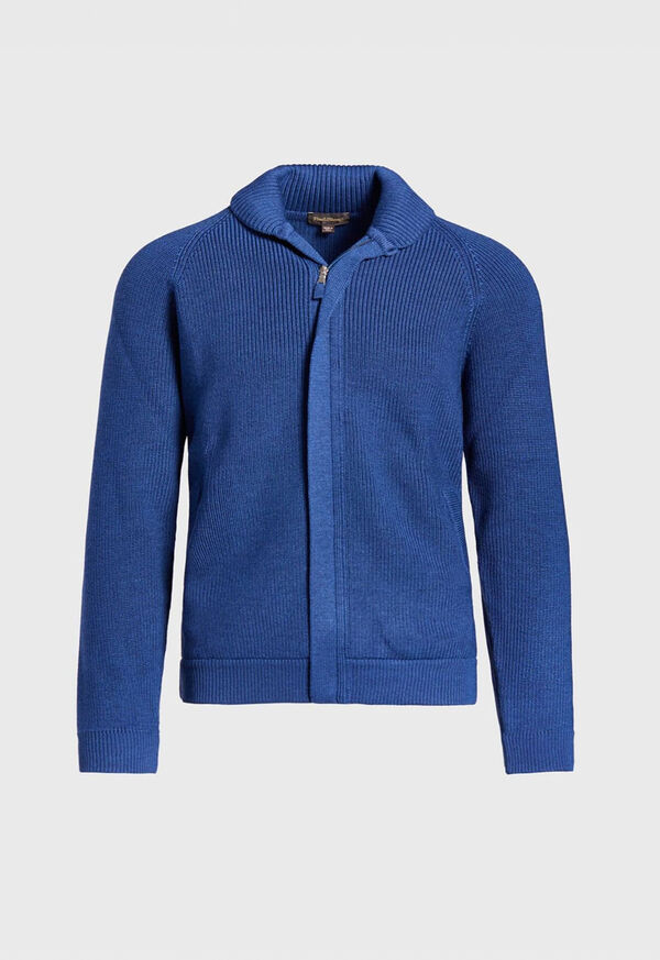 Merino Wool Shawl Collar Cardigan, image 1